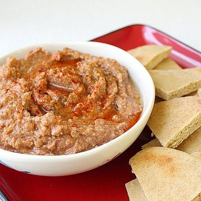 Roasted vegetable dip and pita chips | Food | Pinterest