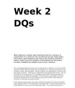 psy 475 week 3 attitude survey