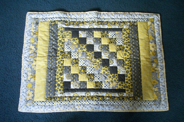 black/white and yellow baby quilt | quilts | Pinterest