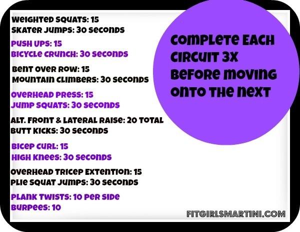 Circuit workout