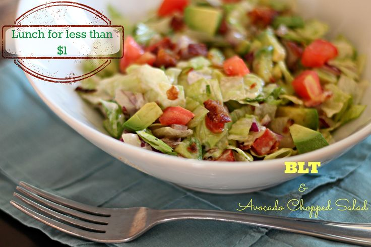 BLT & Avocado Chopped Salad made for $.90 --- #LunchUnderABuck