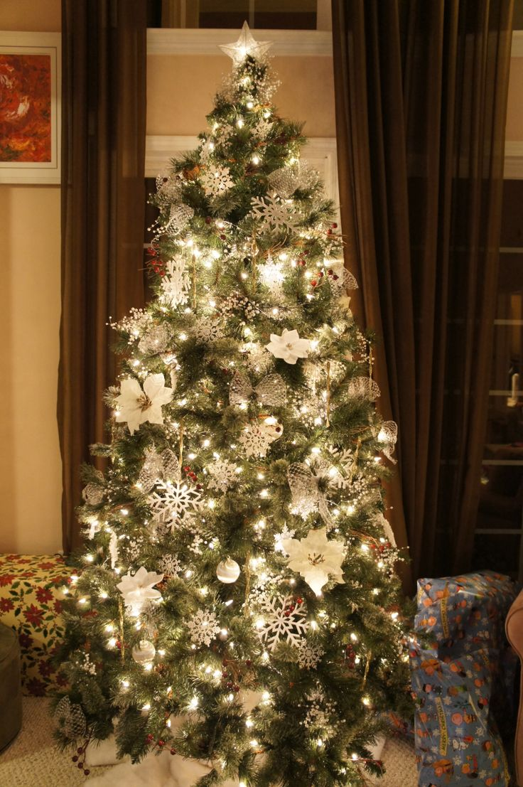 White decoration christmas tree christmas tree pinterest for White christmas tree pinterest