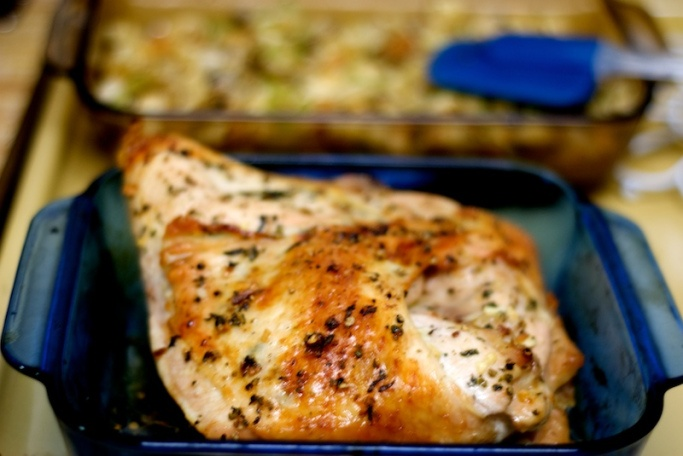 sage butter roasted turkey with cider gravy maple roasted turkey ...