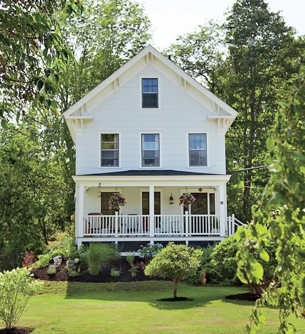 White Farm House Landscape And Nature Pinterest