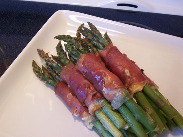 prosciutto asparagus - cooked | Food | Pinterest