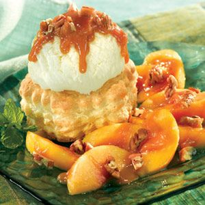 and peaches warmed with dark rum brown sugar butter and cinnamon ...