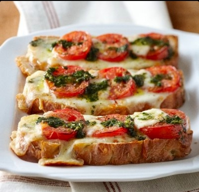 pressed mozzarella and tomato s and wich tomato and mozzarella bread ...