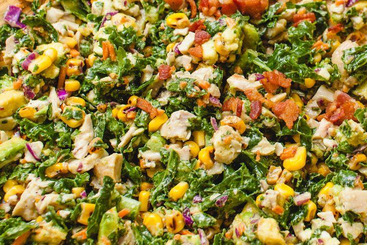chopped kale and roasted corn salad | Good Eats | Pinterest