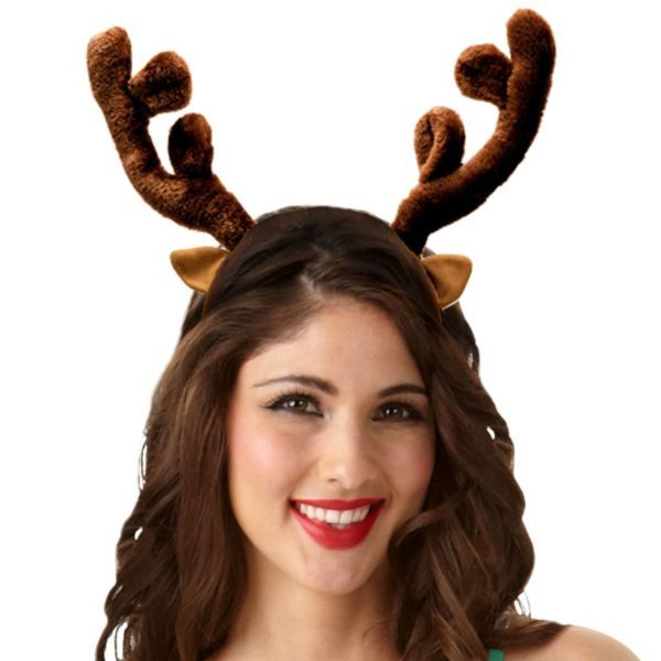 Plush reindeer antlers headband for Reindeer antlers headband craft