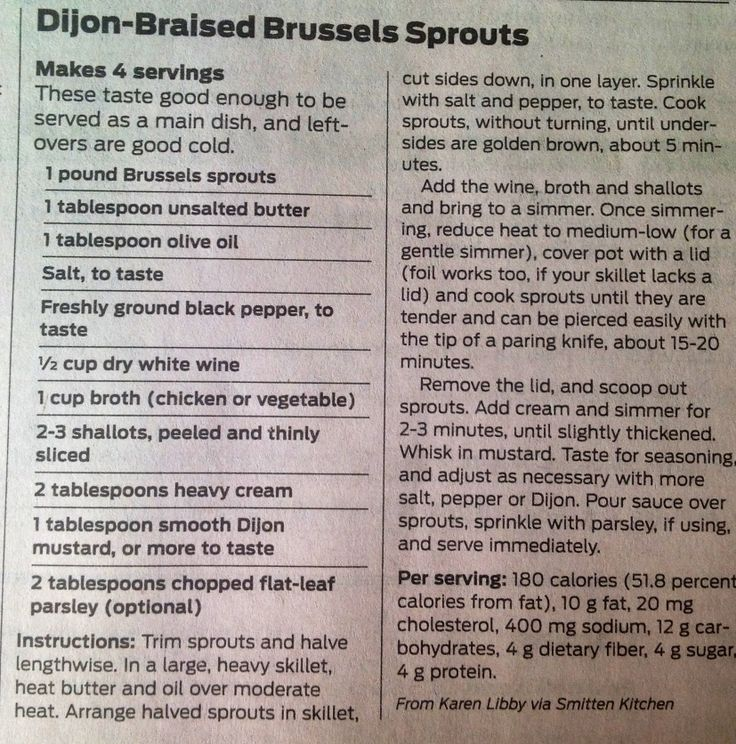 Dijon-Braised Brussels Sprouts ~ Smitten Kitchen SA Express News March ...