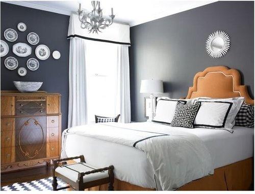 Charcoal burnt orange white bedroom pinterest - Grey and burnt orange rooms ...