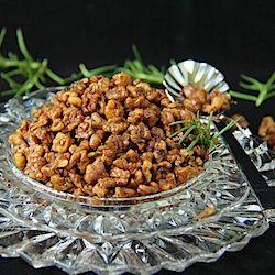 ... LEAVE UNATTENDED _ EXTREMELY ADDICTIVE! Rosemary-Roasted Honey Walnuts