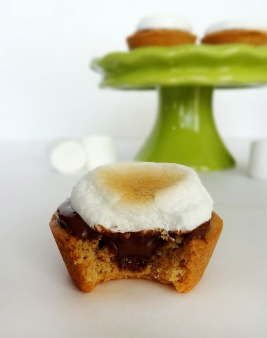 Peanut Butter, Nutella and Marshmallow Cookie Cups | Recipe
