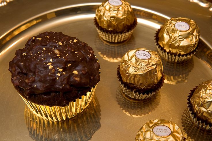 ... Rocher Cupcakes: Rich Chocolate Cupcakes with Hazelnut | Reci