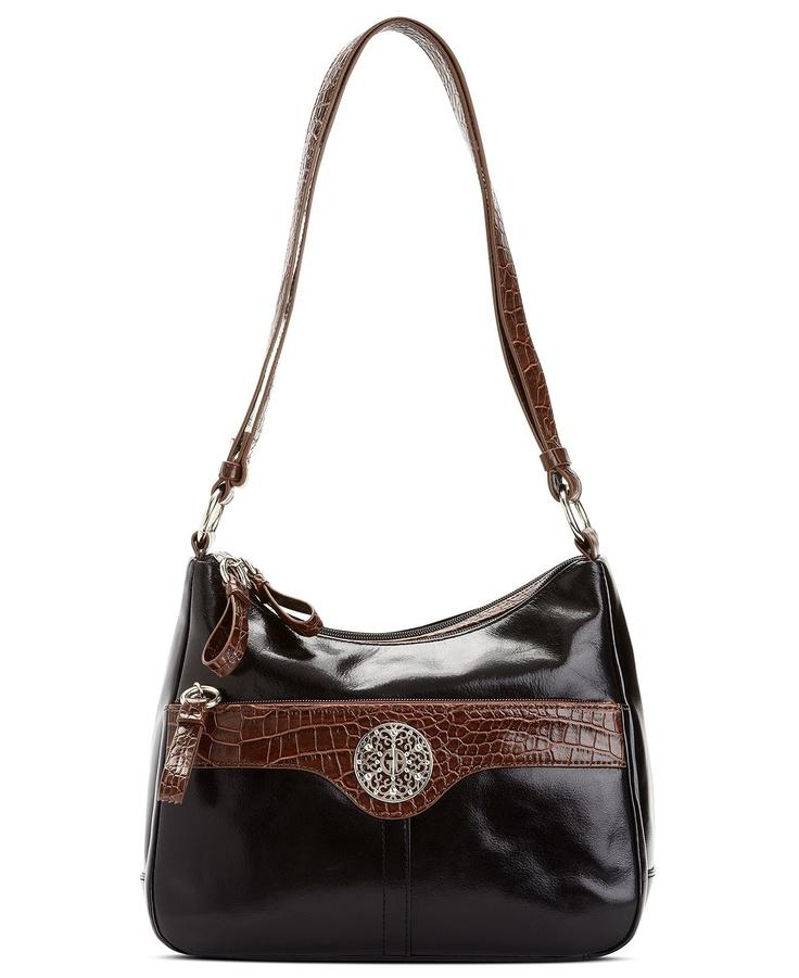 Giani Bernini Handbag Glazed Leather Hobo