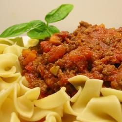 Slow Cooker Bolognese | Very simple, and very tasty. I served it over ...