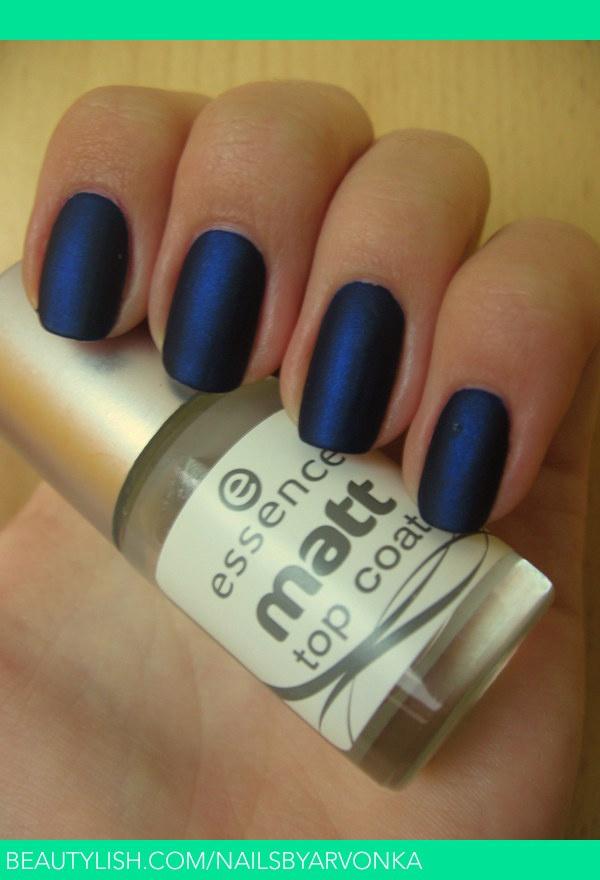Matt Blue | Veronika S.'s (nailsbyarvonka) Photo | Beautylish
