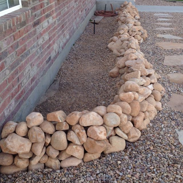 Stone Flower Bed : Stone raised flower bed to be.  Beautiful  Pinterest