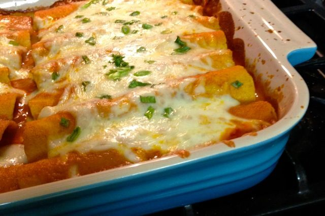 Chicken Enchiladas with Homemade Red Enchilada Sauce - Alaska from ...