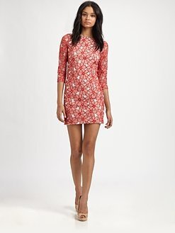 Sarital Tulle Lace Dress by DVF #Lace_Dress #DVF #Dress