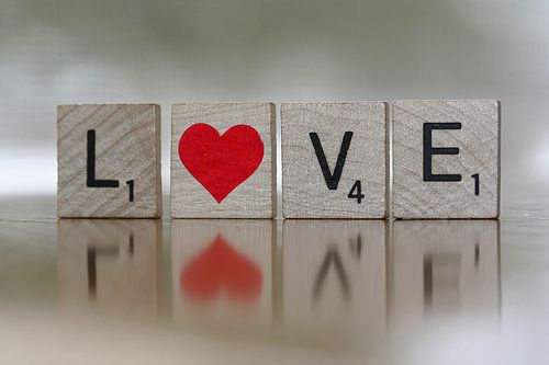 love in scrabble