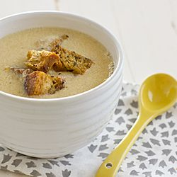 Fresh Corn Soup with Herbed Croutons - The perfect light dinner for a ...