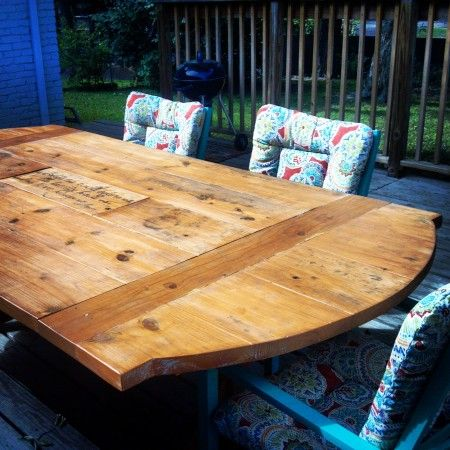 Patio table with built in cooler diy outdoor furniture for Patio table with built in cooler