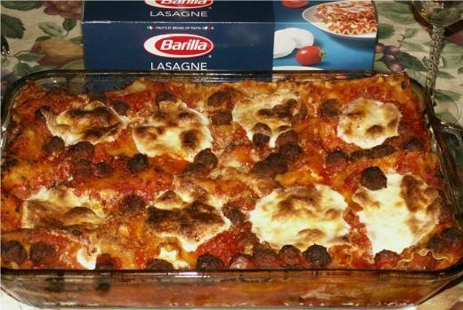 Crispy Lasagna with Tiny Meatballs! | My Recipes | Pinterest