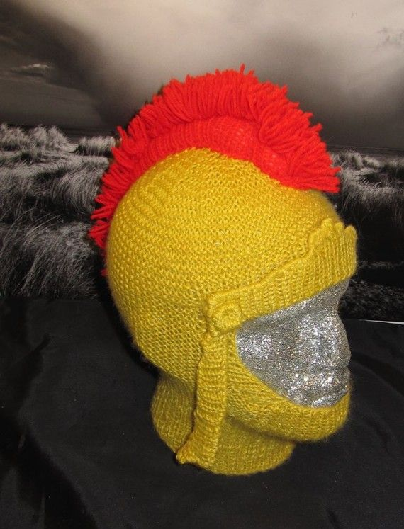 Gladiator helmet knitting pattern