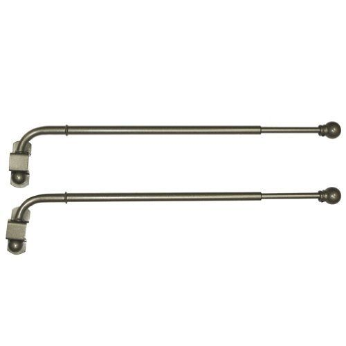 14 25 antique brass adjustable swing arm curtain rod set by