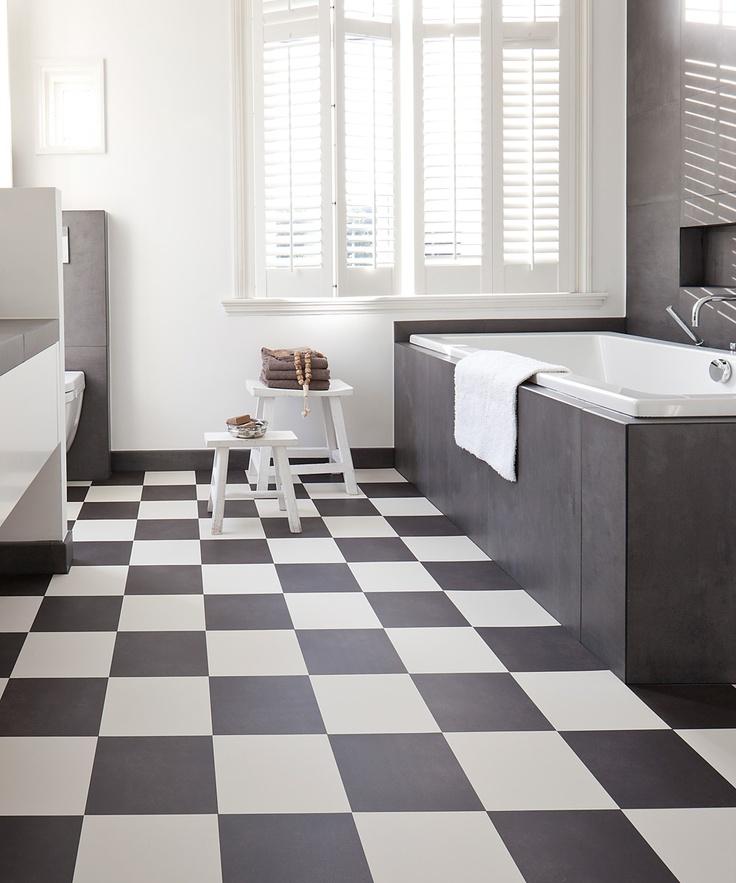 Vloerverwarming vloer  Flexxfloors  Checkered floors  Pinterest