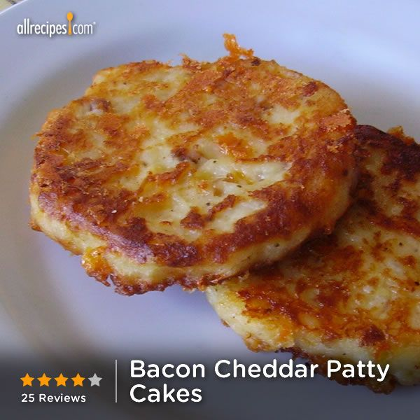 """Bacon Cheddar Patty Cakes 