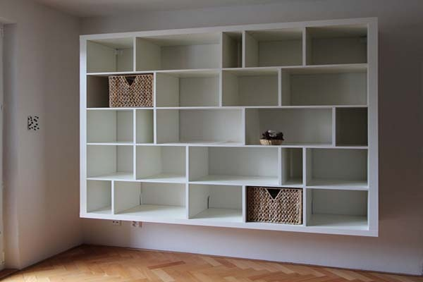 wall mounted shelving units baskets home decor that i. Black Bedroom Furniture Sets. Home Design Ideas