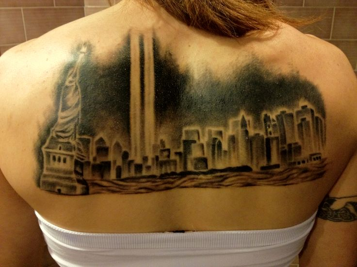 new york skyline tattoo rip wtc i love ink pinterest. Black Bedroom Furniture Sets. Home Design Ideas
