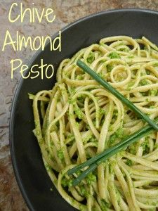 Chive Almond Pesto | From the Garden Table Recipes | Pinterest