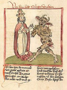 """Pope Sylvester II and his 'succubus"""" Meridiana - who prophesied """"Beware the witch with the blood of the lion and the wolf, for with it she shall destroy the children of night"""" This was the prophesy which Gerbert told to Ysabeau, and prompted her to begin massive witch hunts"""