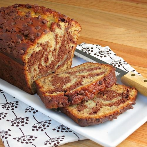 marbled chocolate banana bread | Sweets | Pinterest