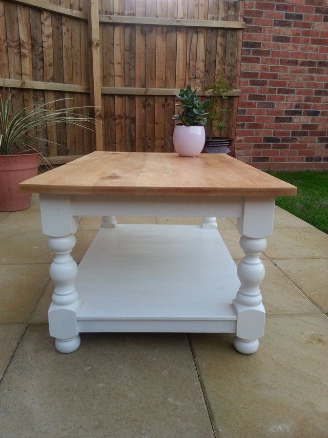 Chic N 39 Shabby Solid Coffee Table Painted In Laura Ashley Forsale