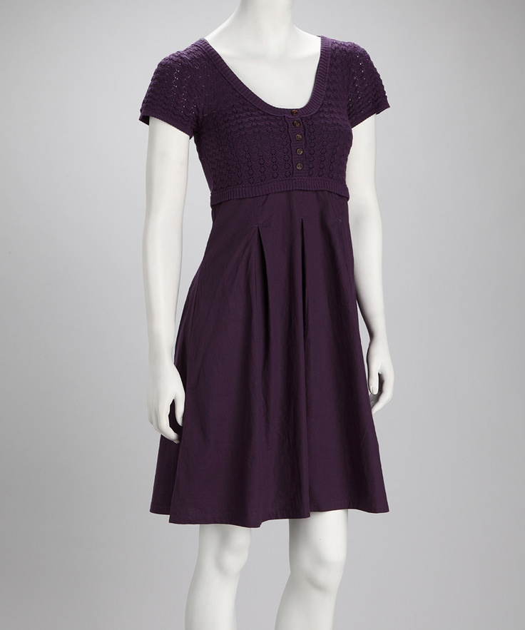 Violet Dress Knitting Pattern : Purple Knit Sweater Dress Ami Sanzuri