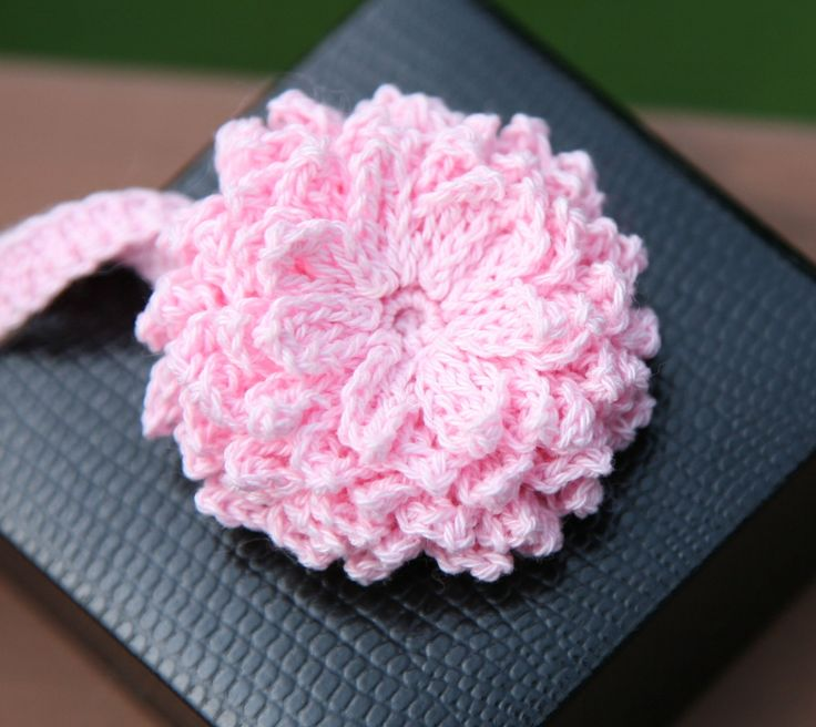 PATTERN crochet - Unique Flower and Headband (Dahlia) FREE ...