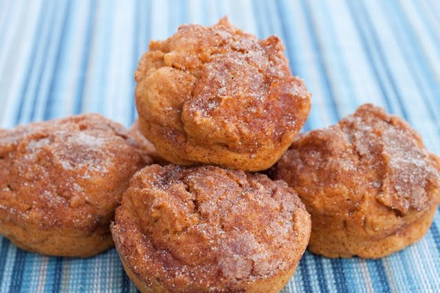 Healthier Cinnamon Crunch Sweet Potato Muffins