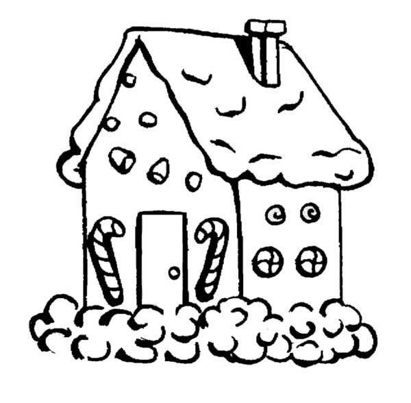 gingerbread house black and white clip art wwwimgkid