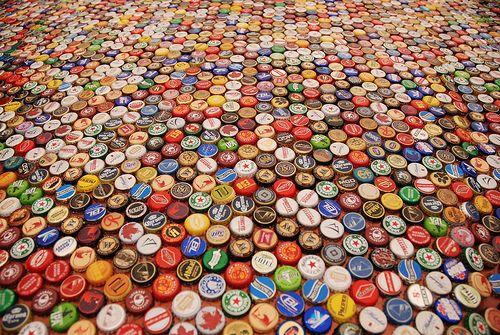Beer bottle cap art recycle bottle caps pinterest for How to make beer bottle cap art