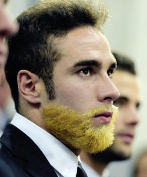 Daniel Carvajal Beard Dyed Yellow Blond After Winning 2014