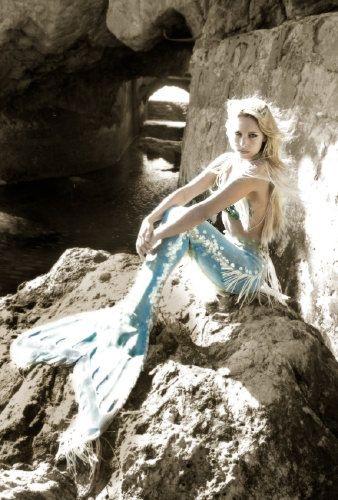 Mermaid on a rock | Me... Fantasy Mermaids On Rocks