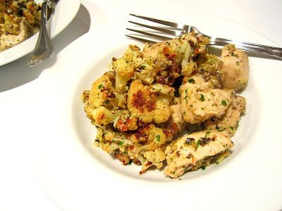 Stacey Snacks: Chicken w/ Caramelized Cauliflower & Green Olive Pesto
