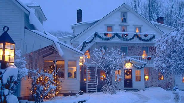 Windham Hill Inn, Vermont. #Christmas #winter #snow