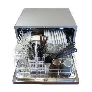 Countertop Dishwasher Home Depot : SPT Dishwasher. Countertop Dishwasher in Silver with 6 wash cycles SD ...