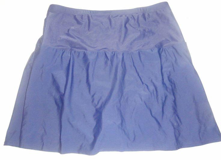 liz claiborne navy blue swim skort skirt plus size 22w