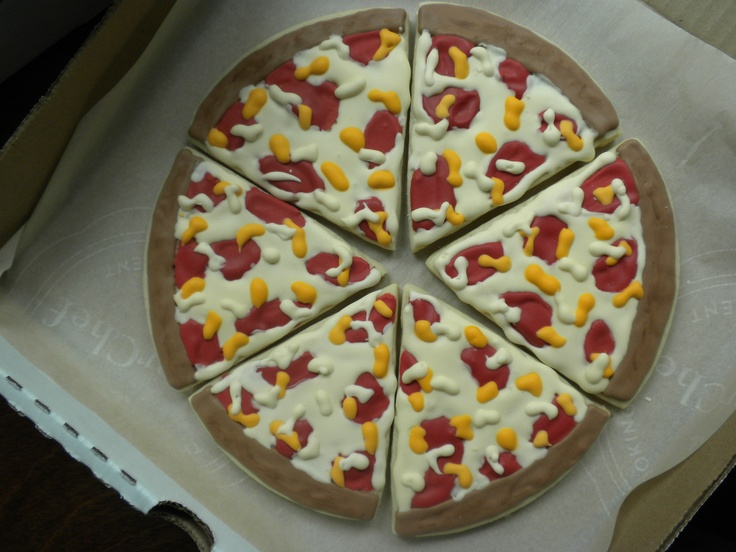 pizza sugar cookies - delivery!   Cookies & Cakes & more   Pinterest